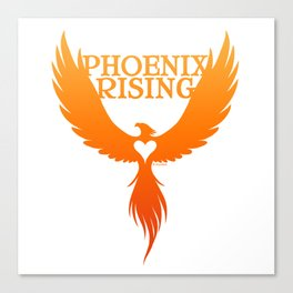 PHOENIX RISING orange with heart center Canvas Print