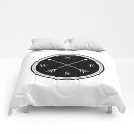 Directions \\ Abstract Compass Design Comforters