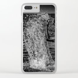 Be the wave that i am and then sink back to the ocean Clear iPhone Case