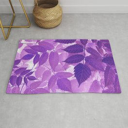 Ultra Violet Purple Leaves Rug