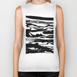 drops of black Biker Tank
