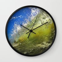 surf Wall Clocks featuring Surf by Nicklas Gustafsson