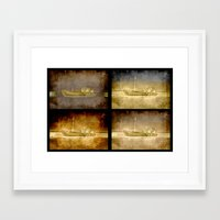ships Framed Art Prints featuring Ships by Anki Hoglund
