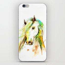 WATERCOLOR HORSE iPhone Skin