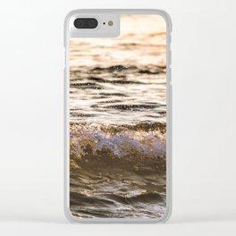 Atlantic Ocean Waves 4182 Clear iPhone Case