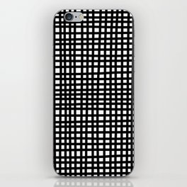 Black and White Gingham iPhone Skin