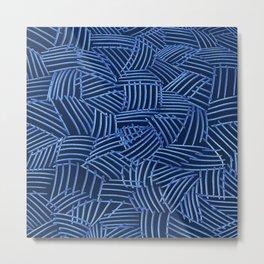 Blue Thatch Metal Print