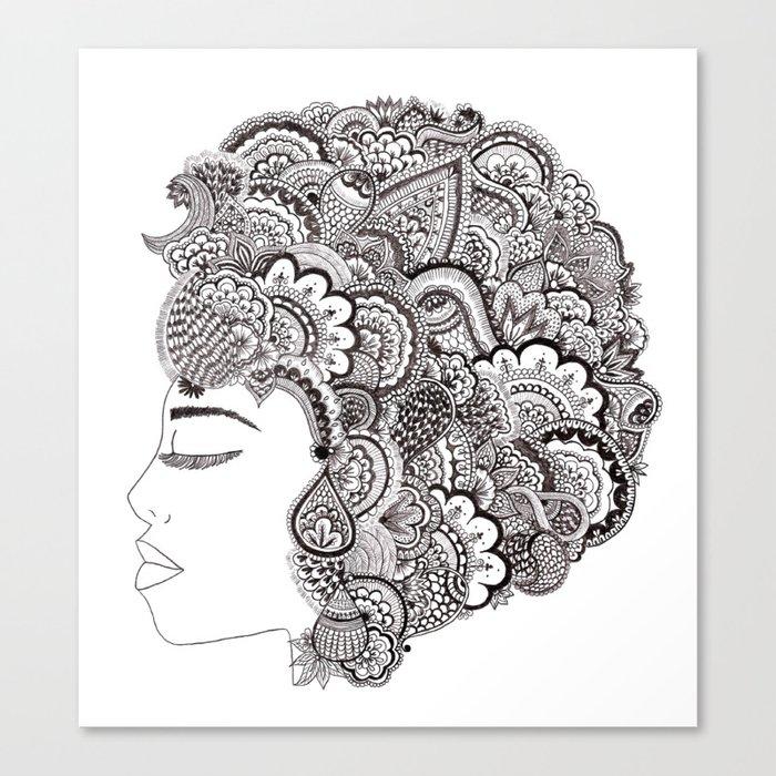 her hair Canvas Print