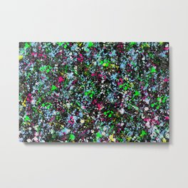 paint drop design - abstract spray paint drops 2 Metal Print