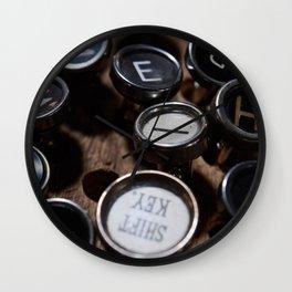 Scattered Keys Wall Clock
