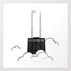 CloudCity - John Hancock Art Print