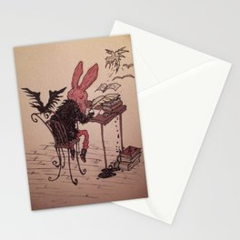 Red Rabbit's Writing Desk Stationery Cards