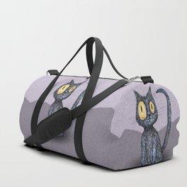 Curly cat Duffle Bag