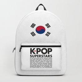 KPOP Superstars Original Boy Groups Merchandse Backpack