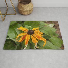 Old Yellow Flower Rug