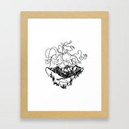 Smoke Show :: Single Line Framed Art Print
