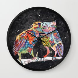 Magic Owl Lovers Wall Clock