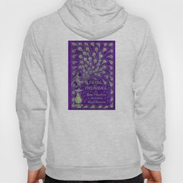 Pride and Prejudice, 1894 Peacock Cover in Purple Hoody