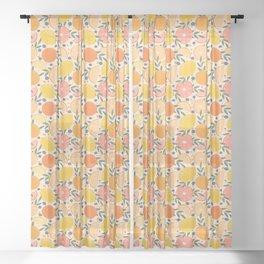 Summer Citrus Sheer Curtain