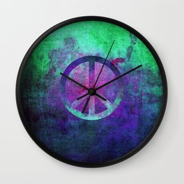 Peace II Wall Clock