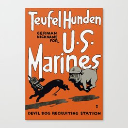 Devil Dog Recruiting Station - WWI Marine Corps Canvas Print