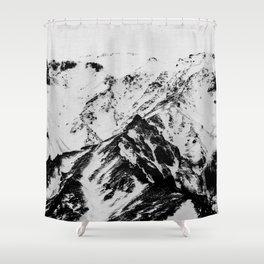 Minimalist Mountains Shower Curtain