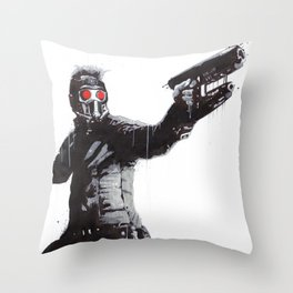 Star-Lord (Peter Quill) Guardians Graffiti Pop Urban Street Art Throw Pillow