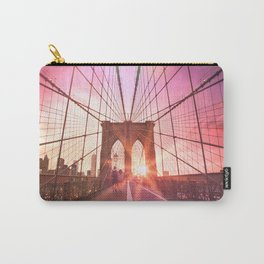 New York City Brooklyn Bridge Sunset Carry-All Pouch