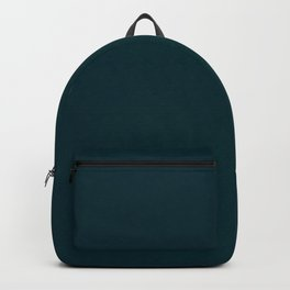 color trend petrol dark blue plain Backpack