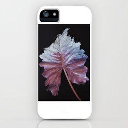 Iridescent Leaf iPhone Case