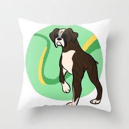 Brindle Boxer Throw Pillow