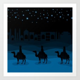 christmas night Art Print