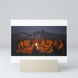 Fire encounter Mini Art Print