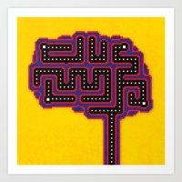 Gamer Brain Art Print