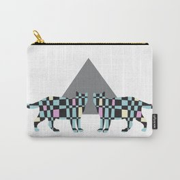 Geometric Cats Carry-All Pouch