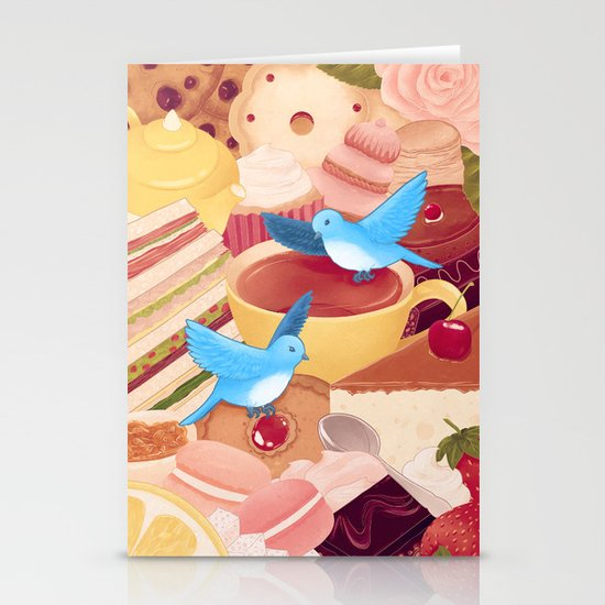 Tea Time Poesy Stationery Cards