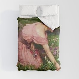 Spring Spreads One Green Lap of Flowers by John William Waterhouse Comforters