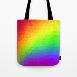Stained Glass Rainbow Gradient (Dark) Tote Bag