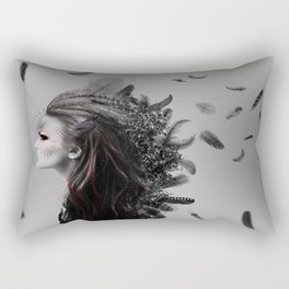 Fighting Feathers Rectangular Pillow
