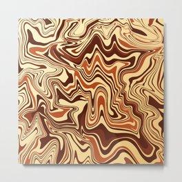 Brown Marble Metal Print