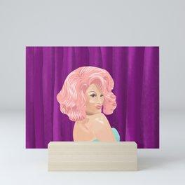 Bubble Gum Pink Hair Drag Queen Mini Art Print