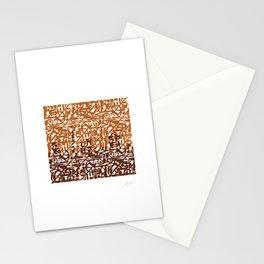 Dubai Skyline - Arabic calligraphy Stationery Cards