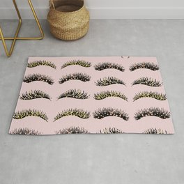 Blush pink - glam lash design Rug