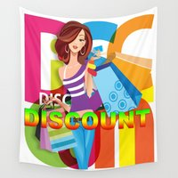 discount Wall Tapestries featuring Creative Title : DISCOUNT by Don Kuing