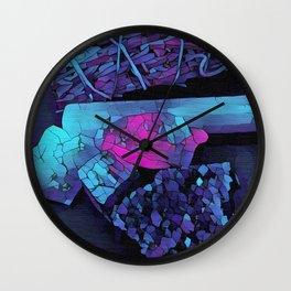 Gem Stones & Sage Wall Clock