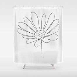 """"""" Botanical Collection """" - Gazania Flower With Grey Background Shower Curtain"""