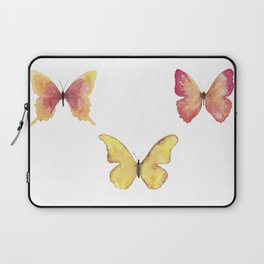 Butterflies Illustration Watercolor - Warm colors Laptop Sleeve