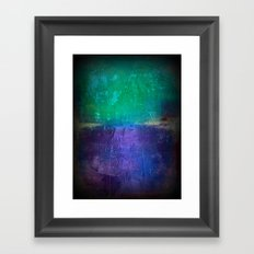 Untitled purple and green Framed Art Print