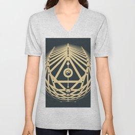 Radiant Abundance (grey-gold) Unisex V-Neck