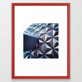 Triangular Structure Framed Art Print